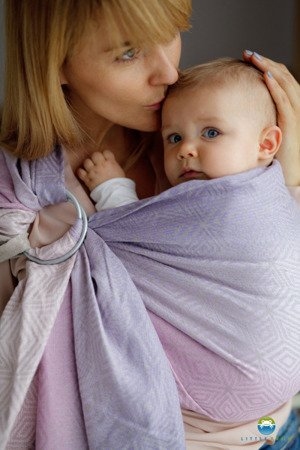 Ring Sling Little Frog Linen Lilac Cube